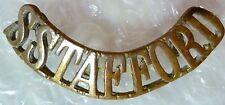 Badge- S STafford Shoulder Title Badge (BRASS)