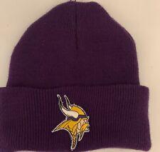 Minnesota Vikings Purple Beanie Knit Hat Cap NFL Team Apparel Football New!