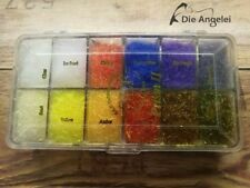 Dubbing Dispenser Crystal Clear 12 Fächer Wapsi USA Dispenser kristallklar leer