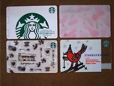 lot 4 Rare Starbucks Card Japan 2004 Olympic Tokyo Sakura Taiwan Taipei LongMan