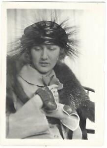 Peggy Hoyt NYC Fashion Designer Wild Hat Vintage '20s Charles Sheldon Photograph