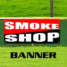 Smoke Vapor Shop Vinyl Banner Sign Cigarettes Cigars Hookah Pipes E-Cigs USA