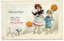 Halloween Children Black Cat Dog JOL May your future always be brightSeries 339E