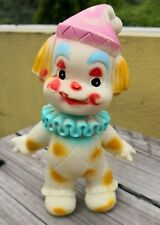 VTG RARE MEXICAN SQUEAKY RUBBER TOY FUNNY CLOWN BOY WITH JOINTED HEAD MEXICO