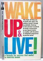 WAKE UP & LIVE by Dorothea Brande 1962 (Pocket) vintage pb gc
