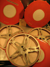 3 x Filmspulen aus Metall 300 Meter 16mm Film mit Filmdosen -Nr.D.66-Film spool