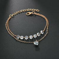 Pretty Women Rhinestone Crystal Multilayer Bracelet Bangle Popular Cuff Jewelry