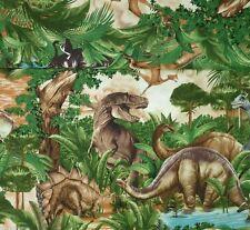 REST Dinosaurier Dino Stoff Baumwollstoffe Kinderstoffe Patchworkstoff Patchwork