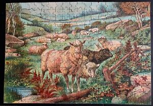 """Vintage Marlboro Jig Picture Puzzle """" THE PEACE OF RUSTIC PASTURES"""" Complete"""
