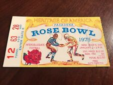 1975 Rosebowl Ticket USC Vs Ohio State Football