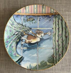 Danbury Mint Limited Edition Comical Cats Curtain Call Collector Plate 1996