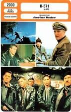 FICHE CINEMA : U 571 - McConaughey,Paxton,Keitel,Mostow 2000