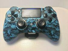 Nuevo Scuf Impact Controller azul scharzes patrones, derecha Stick Long concave