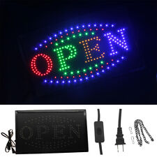 Large Bright Animated Motion Flashing Business Led Open Sign with Switch Us Ship