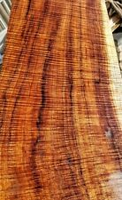 Curly koa guitar wood or bass figured wood for luthier supply a