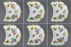 NEW Set of Six Herend Queen Victoria Crescent Plates, 6 Pieces, 530-0-00/VBO