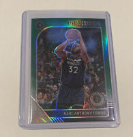 2019-20 Hoops Premium Stock Karl-Anthony Towns Green Prizm #111 Timberwolves