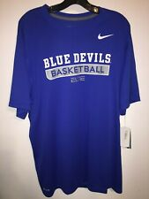 Nike Duke Blue Devils Basketball Elite Practice Game Royal/Grey Short Sleeve Tee