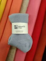100% Cashmere Ankle Socks | Johnstons of Elgin | Made in Scotland | Baby Blue