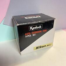 Kenlock Auto Extension Tube For Nikon Ai Mount Lens New Old Stock Mint Lomo