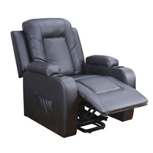 Sofa Chair Multifunctional Recliner Leather Armest Footrest Cinema Massage Chair
