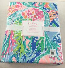 Lilly Pulitzer Pottery Barn Kids Mermaid's Cove Organic Full Size Sheet Set Nwt