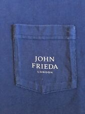 VTG 90's JOHN FRIEDA LONDON GRAPHIC POCKET-MURINA-T-SHIRT-XLARGE-RARE