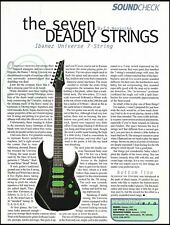The Ibanez Universe &-String guitar 8 x 11 sound check gear review 1996 article