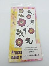Joanna Sheen's - Pressed Flower Unmounted Rubber Stamps - ROSE
