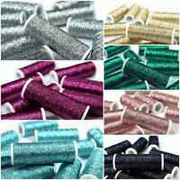 Metallic Embroidery Thread 60M Reels Shiny Glittery Hand Cross Stitch Needlework