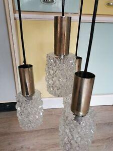 Kaskadenlampe Hängelampe Eisglas 70er Vintage space age Bankamp Leuchten 60s