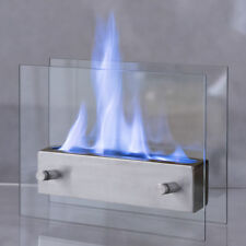 Portable Tabletop Fireplace Ventless Bio Ethanol Garden Fire Stainless Steel