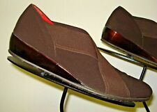 Women's Amalfi By Rangoni Italy Brown Stretch Casual Cool Loafer Sz. 6.5M MINTY!