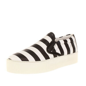 CULT Low Top Sneakers EU 38 UK 5 US 7.5 Two Tone Striped Flatform Sole Round Toe
