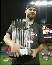 Chris Sale 2018 World Series Commissioners Championship Trophy 8x10 Photo