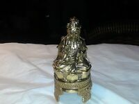 Vintage solid brass Buda Incense Burner made in Japan. Rare at exte. condition.