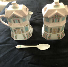 The Lenox Village Collection Creamery & Confectionary Creamer and Sugar 1991 New