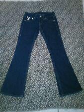 True religion Gold Pockets Women/Juniors Jeans Size 28/33 Inseam Slim/Flare