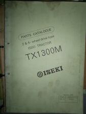 ISEKI microtracteur TX 1300 M - TX1300 M : parts catalogue 1990