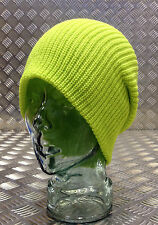 Yellow / Lime Green Knitted Beanie Hat / Watch Cap / Woolly Hat - One size - NEW