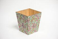 Libro Verde William Morris Residuos Bin de madera hecho a mano en Reino Unido