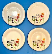 4 RAE DUNN Bloom Plates Artisan Collection Magenta