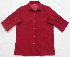 Unbranded Red Dress Shirt Long Sleeve Women's XL Extra Large Button Up Polyester