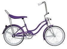 """Micargi 20"""" Lowrider Beach Cruiser Bicycle Bike Low Rider Girls frame Purple"""