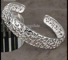 Solid Sterling Silver PL Jewellery Bangle Bracelet E925