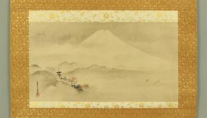 狩野常信 KANO TSUNENOBU Japanese hanging scroll / MOUNT FUJI IN AUTUMN SCENERY I914