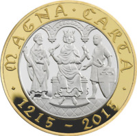 UNCIRCULATED Magna Carta 800th Anniversary Declaration £2 Two Pound coin 2015 RA