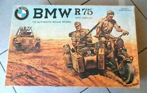 E.S.C.I. BMW R75 WITH SIDECAR - 1/9 AUTHENTIC SCALE MODEL - SCATOLA NUOVA -
