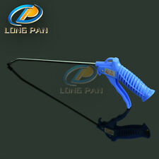 Plastic Air Blow Gun  Spring Load Trigger Bent Nozzle Cleaning Tool Blue
