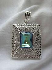 Silver Plated Mystic Topaz Fashion Pendants